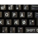 Danish Large Lettering keyboard stickers