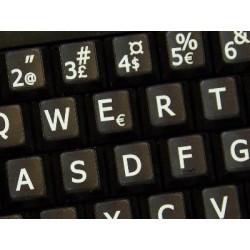 Danish Large Lettering keyboard stickers