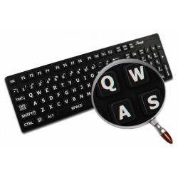English UK Large Lettering Upper case keyboard stickers