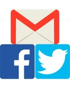 Gmail, Facebook, Twitter