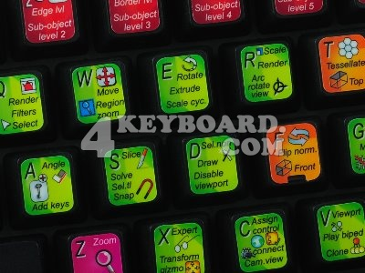 3ds Max keyboard stickers