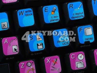 Autodesk AutoCAD keyboard stickers