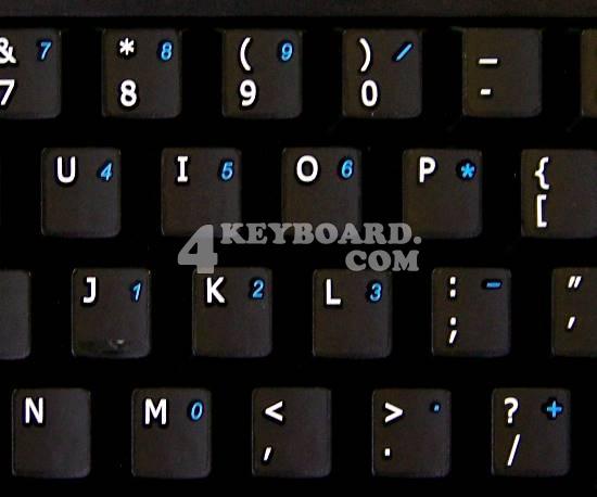 English US with Additional key Keyboard sticker