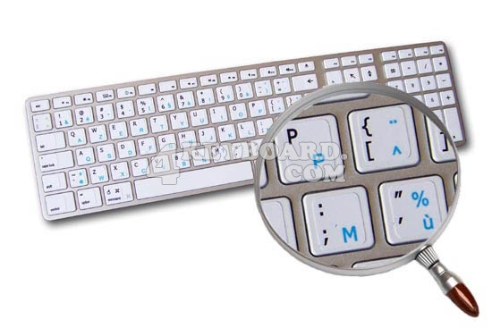 Mac English - French AZERTY stickers