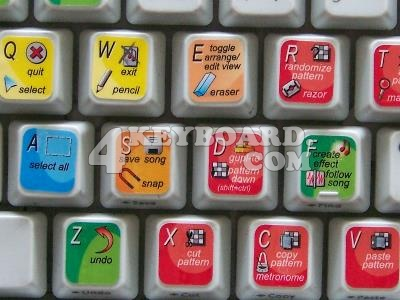 Propellerhead Reason keyboard stickers