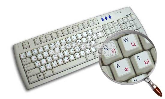 Russian Cyrillic - English Keyboard sticker
