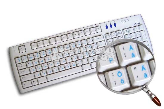 Swedish Finnish Keyboard sticker