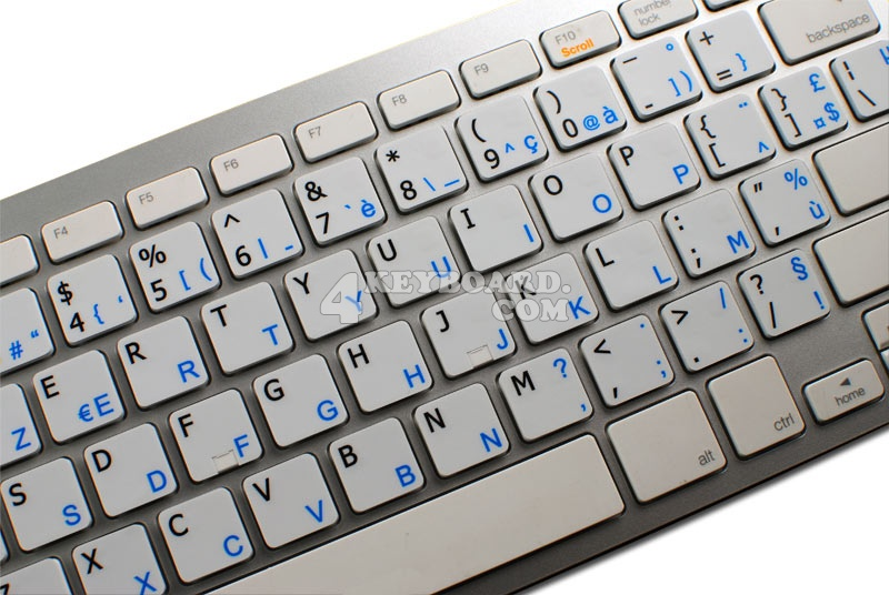 Danish - English non-transparent keyboard stickers 15x15