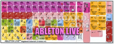 Click to enlarge Ableton Live keyboard stickers