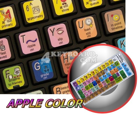 Apple Color Keyboard stickers