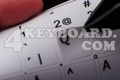 Application keyboard stickers