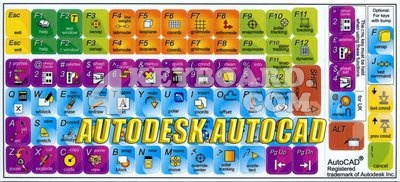 Click to enlarge Autodesk AutoCAD keyboard stickers