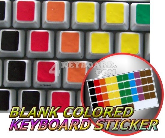 Blank Colored keyboard stickers