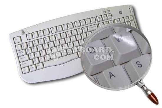 Blank keyboard stickers