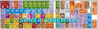 Click to enlarge Cakewalk Sonar keyboard stickers