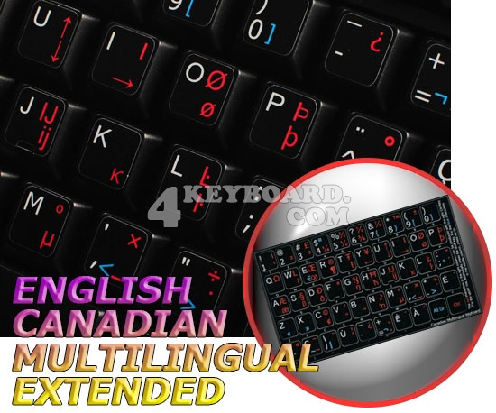 English-Canadian multilingual Extended non-transparent sticker
