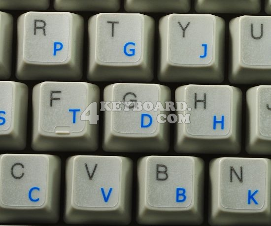LEARNING COLEMAK KEYBOARD STICKER 4KEYBOARD