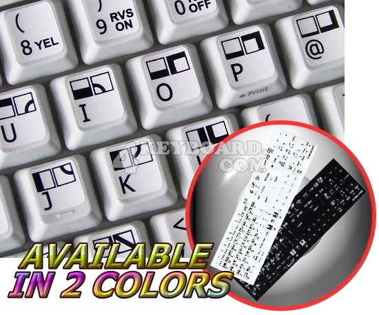 Commodore 64 non-transparent keyboard stickers
