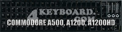Commodore A500/A1200/A1200HD non-transparent keyboard stickers