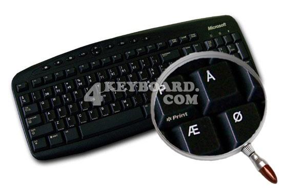 Danish Keyboard sticker