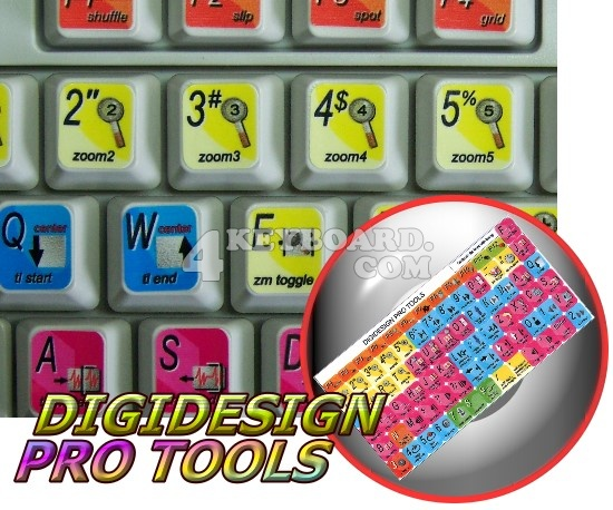 DigiDesign Pro Tools keyboard stickers