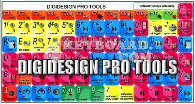 Click to enlarge DigiDesign Pro Tools keyboard stickers