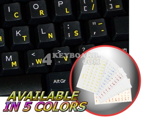 Dvorak Simplified transparent keyboard sticker