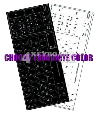 Click to enlarge Programmer Dvorak keyboard stickers