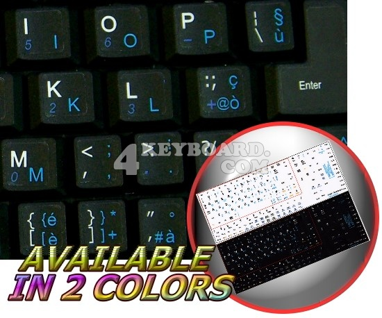 English-Italian Netbook keyboard stickers