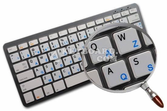 Greek - English non-transparent keyboard stickers 14x14