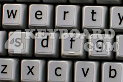 English LARGE LETTERING Keyboard Stickers (Lower case)