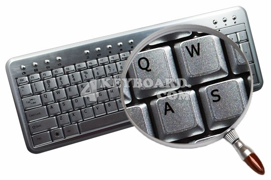 English US keyboard stickers for Notebook silver background
