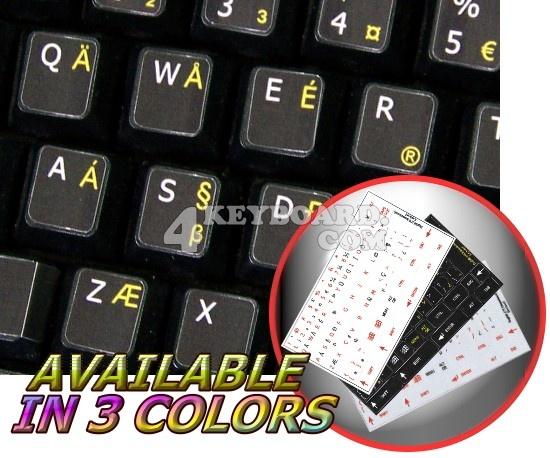 English US International non-transparent keyboard stickers