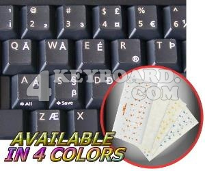 English US International transparent keyboard sticker