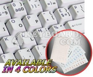 English US transparent keyboard sticker