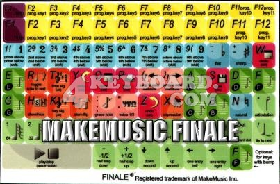 Click to enlarge MakeMusic Finale keyboard stickers