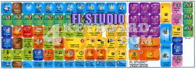 Click to enlarge FL Studio keyboard stickers