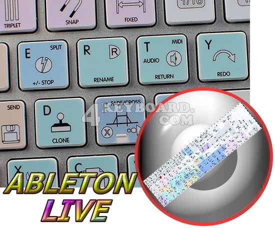 Ableton Live Galaxy series keyboard stickers Apple size