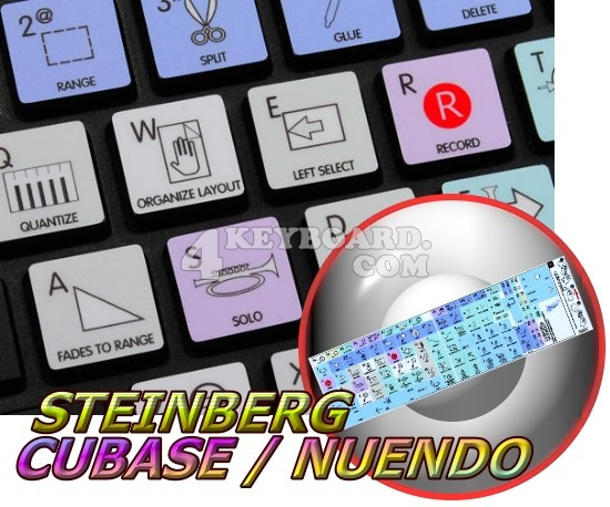 Steinberg Cubase / Nuendo Galaxy series stickers Apple size