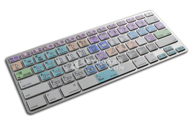 Avid News Cutter Galaxy series keyboard stickers Apple size