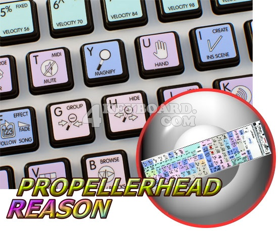Propellerhead Reason Galaxy series keyboard stickers 12x12 size