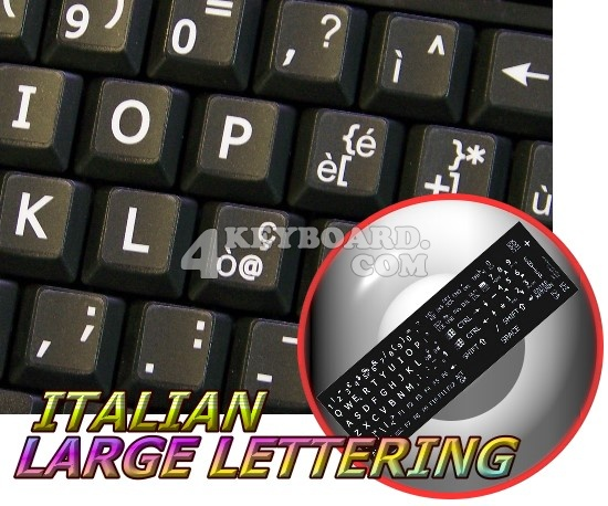 Italian LARGE LETTERING keyboard sticker