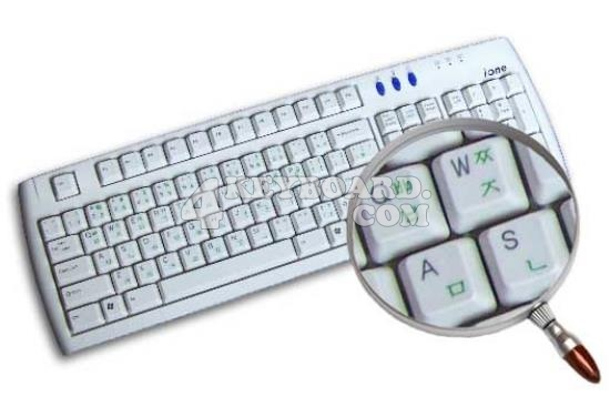 Korean transparent keyboard stickers