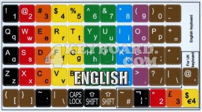 Click to enlarge Learning US colored PC keyboard stickers
