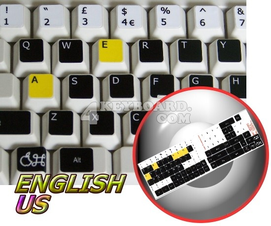 Learning English US colored Mac (Apple) keyboard stickers