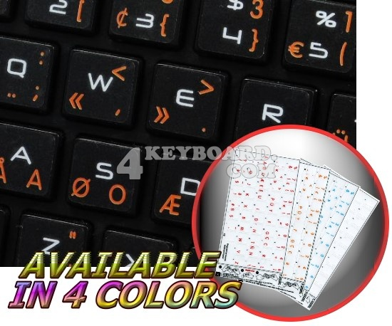 Apple Dvorak Programmer Transparent keyboard stickers