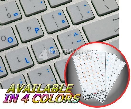 Apple Portuguese Transparent keyboard stickers