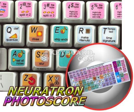 Neuratron PhotoScore keyboard stickers