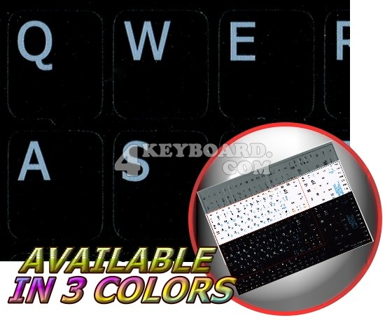 English US Notebook keyboard stickers