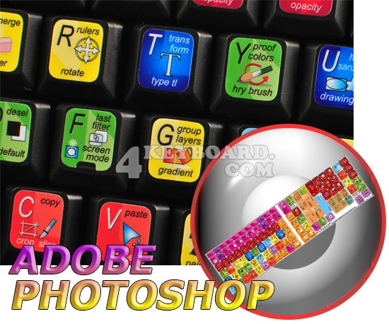 Adobe Photoshop keyboard stickers